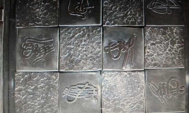 Дизайнерская кованая металлическая плитка для стен, пола